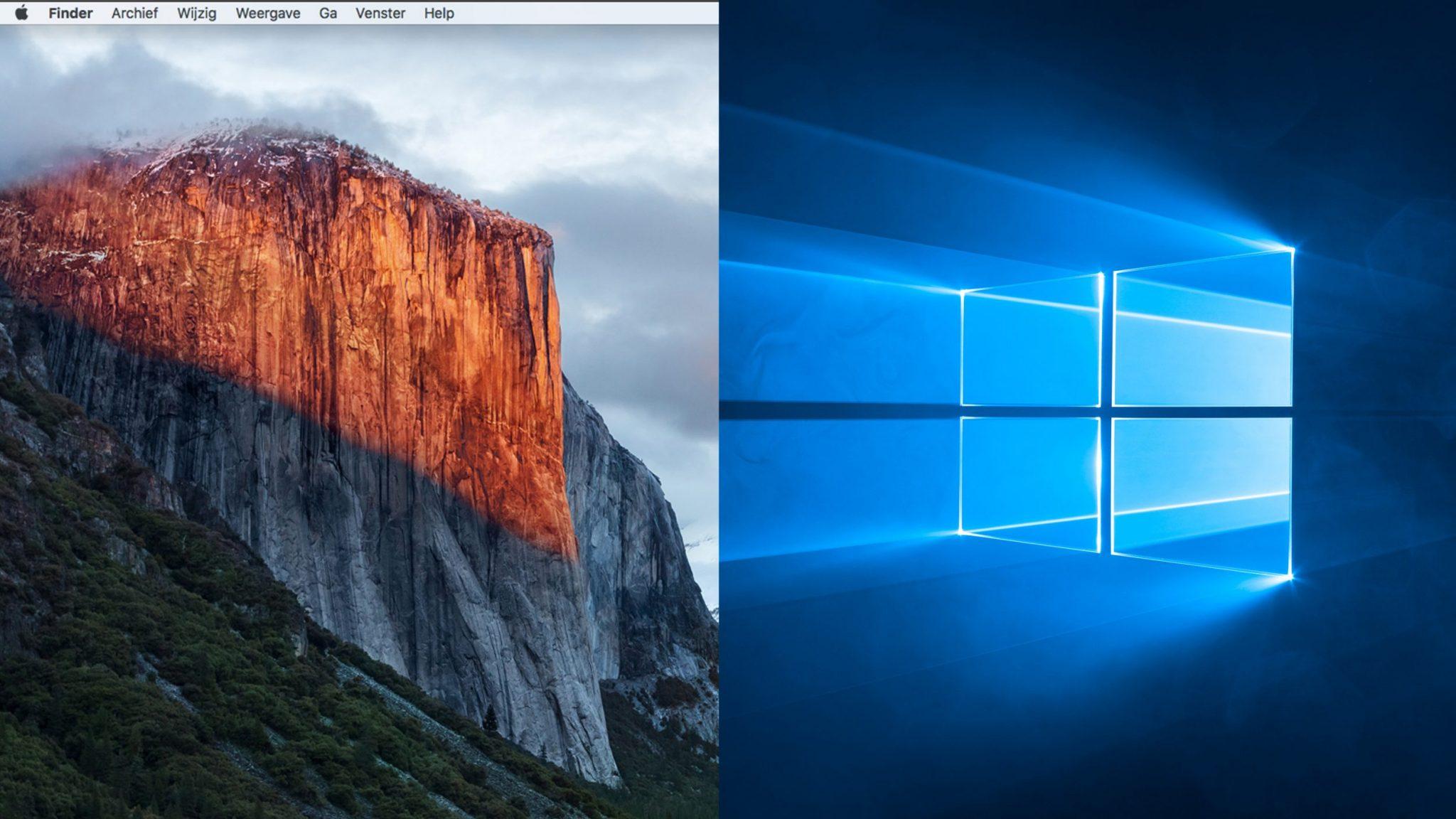 Gecombineerd apple windows