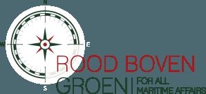 Logo rood boven groen